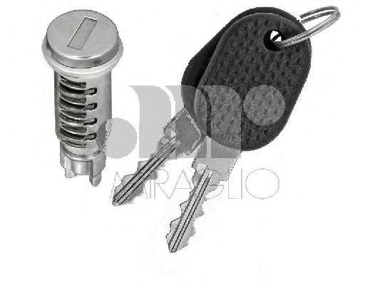 Замка личинка двери, 02-06 (с ключём)  арт. 801018F