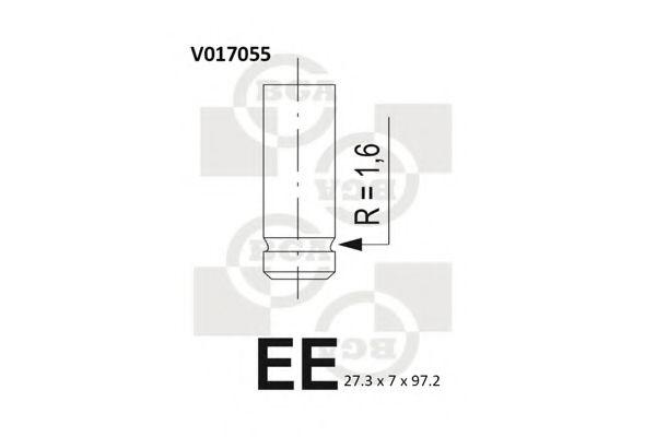 Клапан выпускной Клапан BGA арт. V017055