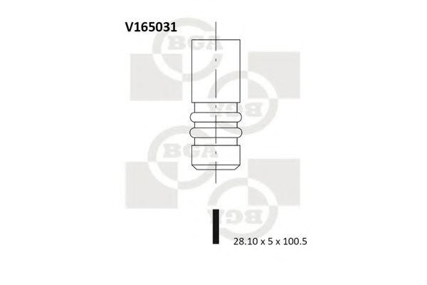Клапан выпускной Клапан двигуна BGA арт. V165031