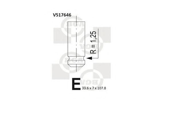 Клапан выпускной Клапан BGA арт. V517646