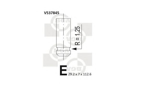 Клапан выпускной Клапан BGA арт. V537845