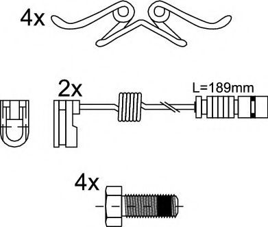 Дисковые тормозные колодки (без упаковки)(пр-во Jurid)                                               JURID 2915309560
