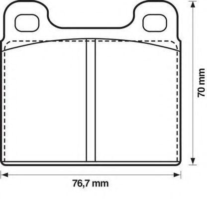 Колодки дискового тормоза (пр-во Jurid)                                                               арт. 571215J
