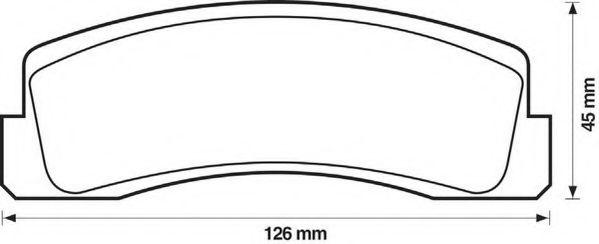 Колодки дискового тормоза (пр-во Jurid)                                                               арт. 571265J