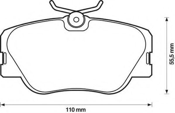 Колодки дискового тормоза (пр-во Jurid)                                                              LPR арт. 571382J