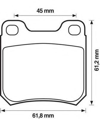 Колодки дискового тормоза (пр-во Jurid)                                                               арт. 571389J