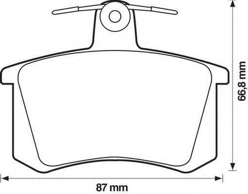 Колодки дискового тормоза (пр-во Jurid)                                                               арт. 571462J