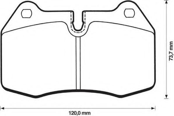 Колодки дискового тормоза (пр-во Jurid)                                                               арт. 571852J