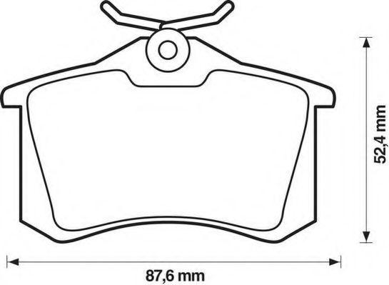 Колодки дискового тормоза (пр-во Jurid)                                                              REMSA арт. 571906J