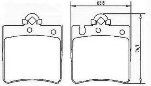 Колодки дискового тормоза (пр-во Jurid)                                                              REMSA арт. 571988J
