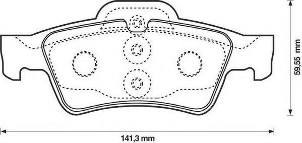 Колодки дискового тормоза (пр-во Jurid)                                                              LPR арт. 571989J