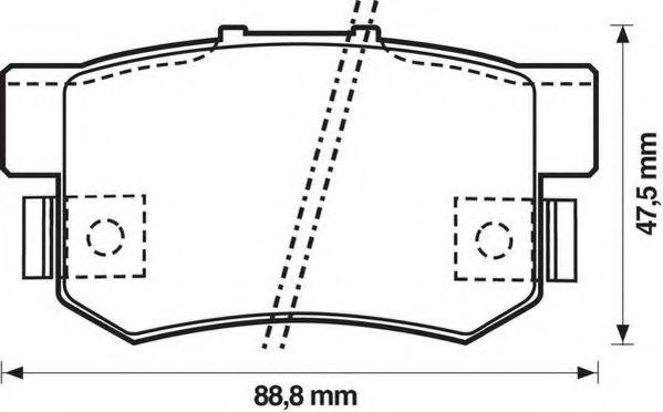 Колодки дискового тормоза (пр-во Jurid)                                                               арт. 572138J
