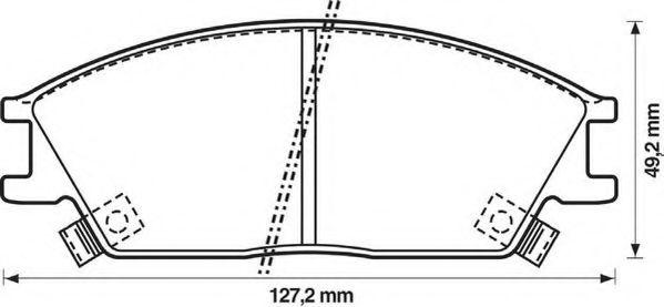 Колодки дискового тормоза (пр-во Jurid)                                                               арт. 572269J