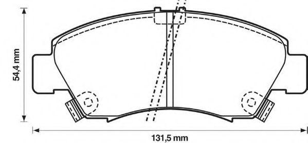 Колодки дискового тормоза (пр-во Jurid)                                                               арт. 572324J