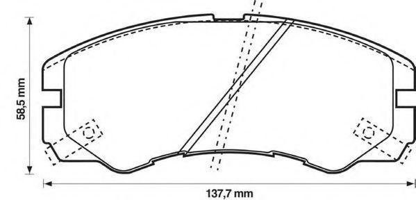 Комплект тормозных колодок, дисковый тормоз  арт. 572348J