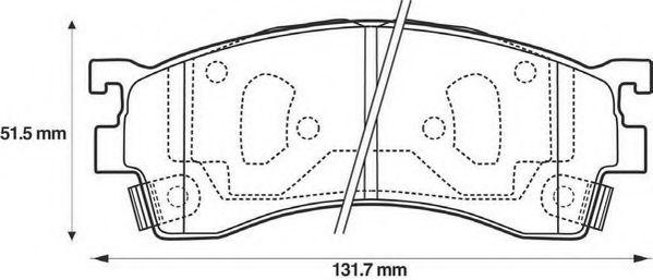 Колодки дискового тормоза (пр-во Jurid)                                                              REMSA арт. 572434J