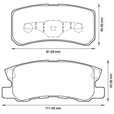 Колодки дискового тормоза (пр-во Jurid)                                                               арт. 572498J