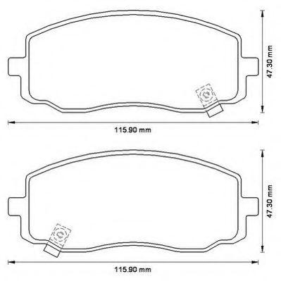 Колодки дискового тормоза (пр-во Jurid)                                                               арт. 572526J
