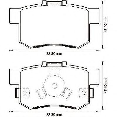 Колодки дискового тормоза (пр-во Jurid)                                                              REMSA арт. 572544J