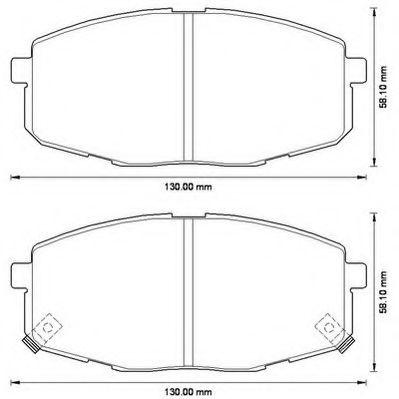 Колодки дискового тормоза (пр-во Jurid)                                                               арт. 572577J