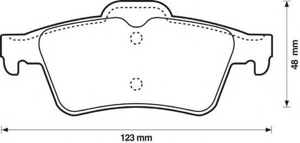 Колодки дискового тормоза (пр-во Jurid)                                                               арт. 573018J