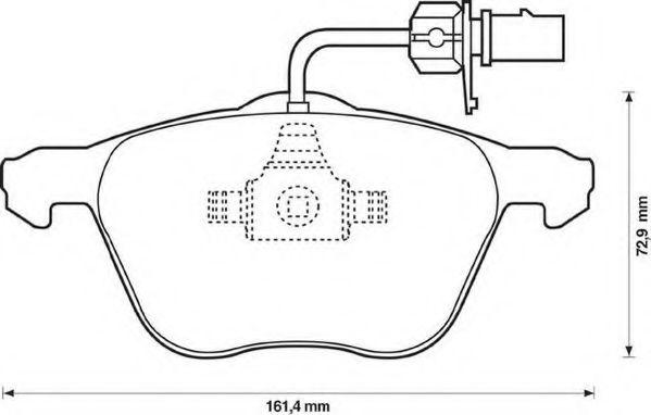 Колодки дискового тормоза (пр-во Jurid)                                                               арт. 573047J