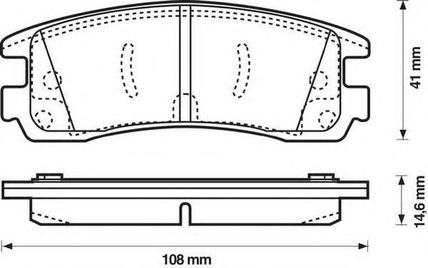 Комплект тормозных колодок, дисковый тормоз  арт. 573062J