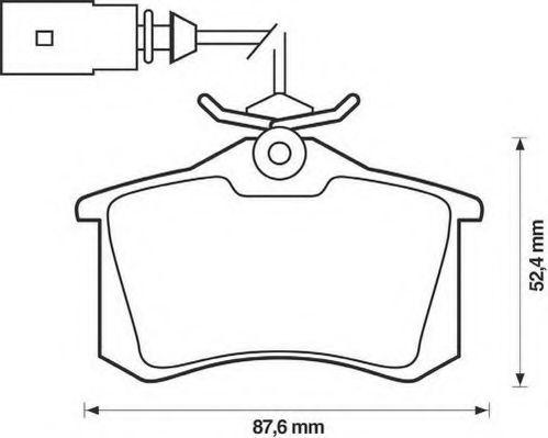 Колодки дискового тормоза (пр-во Jurid)                                                               арт. 573065J