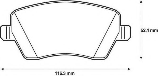 Колодки дискового тормоза (пр-во Jurid)                                                               арт. 573125J