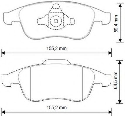Колодки дискового тормоза (пр-во Jurid)                                                               арт. 573268J