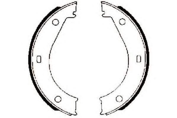 Тормозные колодки (без упаковки)(пр-во Jurid)                                                         арт. 361266J