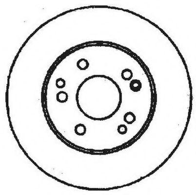 Диск тормозной MB E-CLASS задн. (пр-во Jurid)                                                        JURID 561333JC
