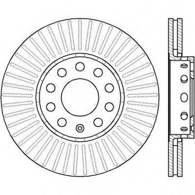 Диск тормозной AUDI 100,A4, SKODA SUPERB,VW PASSAT, передн. вент. (пр-во Jurid)                      JURID 561548JC