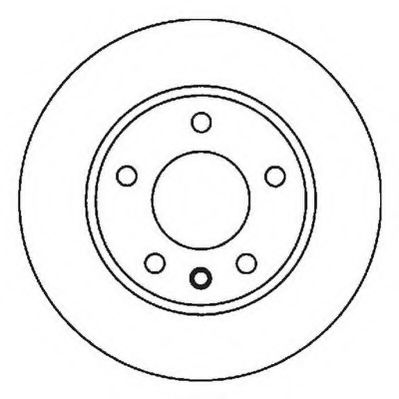 Диск тормозной AUDI/SEAT/SKODA/VW A3/LEON/OCTAVIA/BORA задн. (пр-во Jurid)                           JURID 562053JC