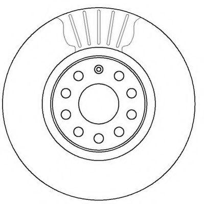 Диск тормозной AUDI Q3, VW JETTA, SKODA YETI передн. (пр-во Jurid)                                   JURID 562387JC
