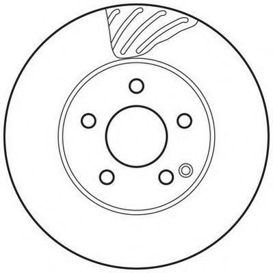 Диск тормозной MB C-CLASS передн./задн. (пр-во Jurid)                                                JURID 562627JC