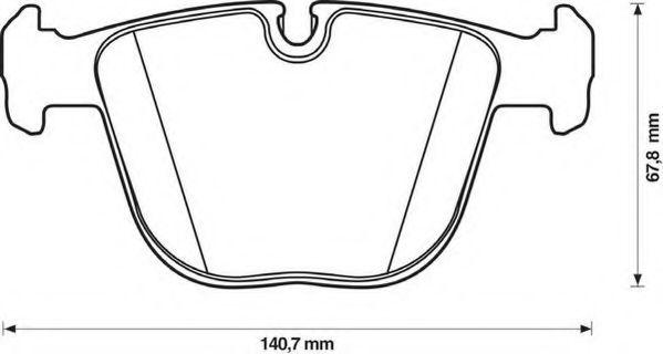 Комплект тормозных колодок, дисковый тормоз  арт. 571991JC