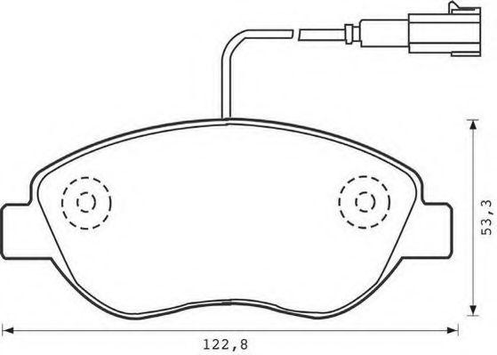 Гальмівні колодки дискові перед. Fiat Stilo 01,04/Grande Punto/Doblo 05/Bravo -07 JURID 573074JC