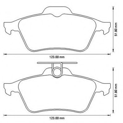 Колодки дискового тормоза JURID WHITE (пр-во Jurid)                                                   арт. 573186JC