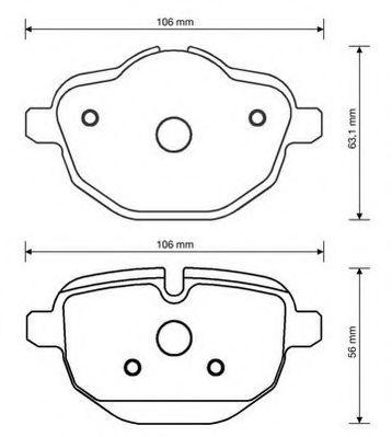 Гальмівні колодки, дискові  арт. 573352JC