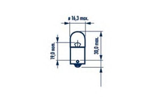 R5W HEAVY DUTY 24V 5W BA15s |AUXILIARY LAMPS|  10шт NARVA арт. 17186