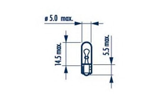 W1,2W 12V 1,2W W2X4,6d  |WEDGEBASE LAMPS|  10шт