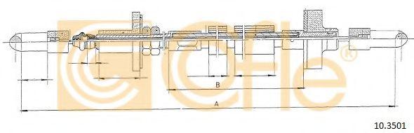 Трос сцепления Трос сцепления COFLE арт. 103501