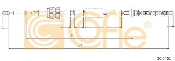 Трос ручного тормоза Трос ручного гальма COFLE арт. 105461
