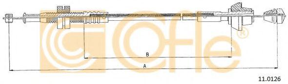 Карбюратор Трос ручного тормоза COFLE арт. 110126