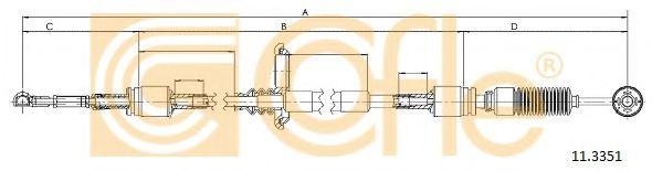 Трос куліси КПП (сірий) DB Vito COFLE 113351