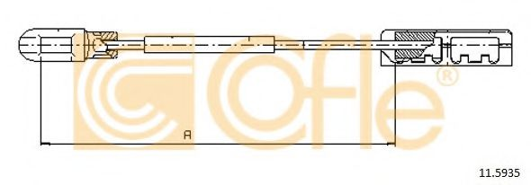 Трос стояночного тормоза ADRIAUTO арт. 115935