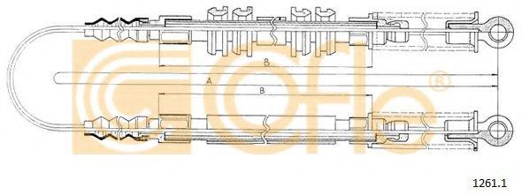 Трос стояночного тормоза  арт. 12611