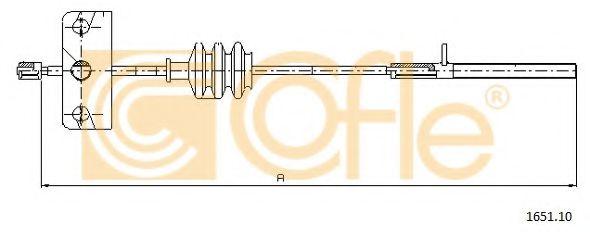 Трос, стояночная тормозная система  арт. 165110
