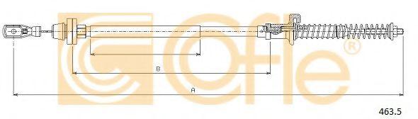 Карбюратор Тросик газа COFLE арт. 4635